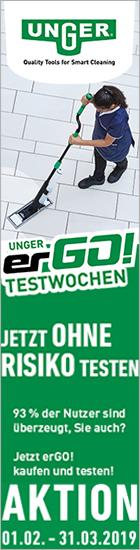 Unger ergo Testwochen bei www.reinigungsberater.de