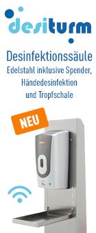 DesiTurm Desinfektionssäule bei Reinigungsberater.de