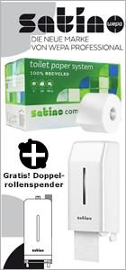 Toilettenpapier Wepa Satino Großrolle hochweiß im Set bei www.reinigungsberater.de