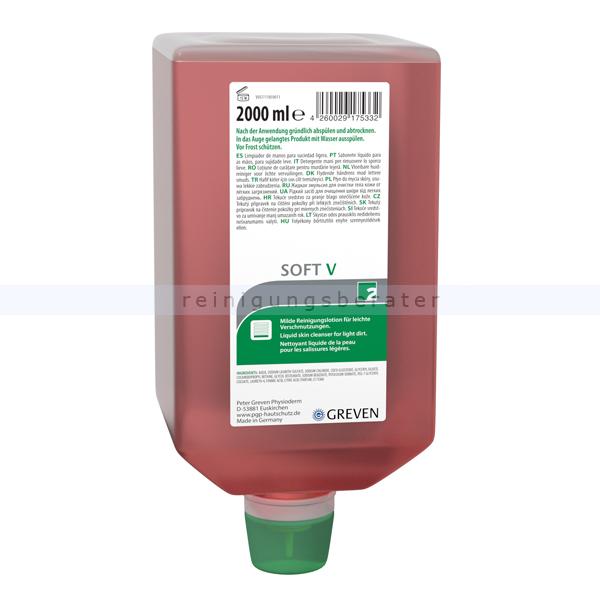 Peter Greven GREVEN Soft V 2 L ehemals Ivraxo zur Reinigung leicht verschmutzter Haut 13992005