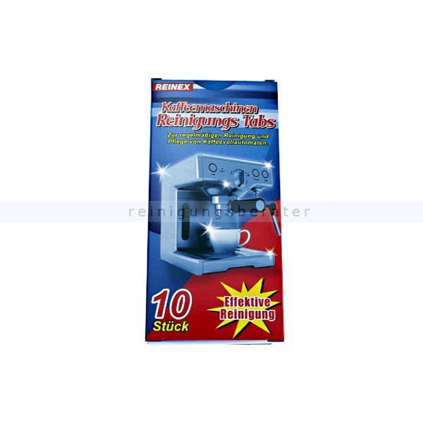 Reinigungstabs Reinex für Kaffeemaschinen 10 Tabs Tabs zur Reinigung von Kaffeemaschinen 13841