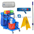 Reinigungswagen GONISA36 2 x 18 L umfangreiches Set 1