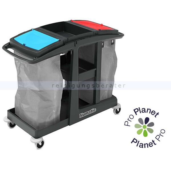 Reinigungswagen Numatic EcoMatic EM 4 Anteil von recyceltem Kunststoff: bis zu 97 % 909660