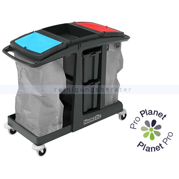 Reinigungswagen Numatic EcoMatic EM 6 Anteil von recyceltem Kunststoff: bis zu 97 % 909662