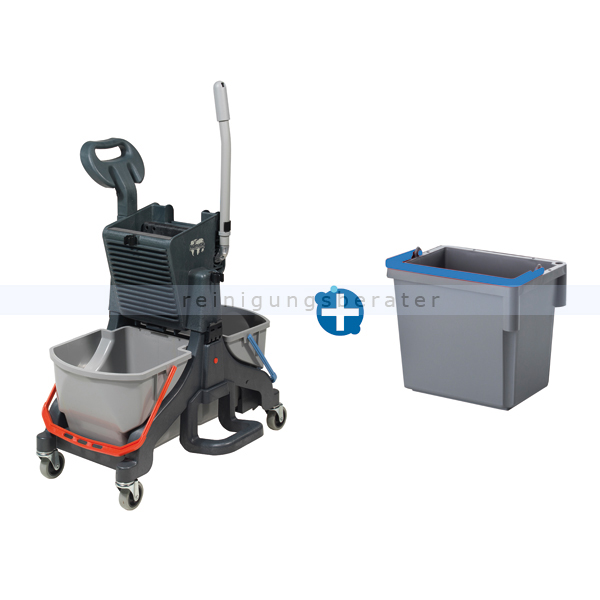 Reinigungswagen Numatic MidMop Plus mit extra Eimer 5 L grau