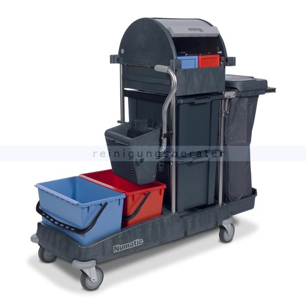 reinigungswagen numatic topcar 3a mit universalpresse. Black Bedroom Furniture Sets. Home Design Ideas