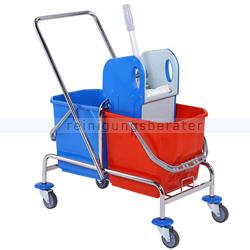 Reinigungswagen ReinigungsBerater verchromt 2x25 L