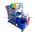 Reinigungswagen RMV Systemwagen chrom King 2 x 25 L