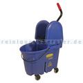 Reinigungswagen Rubbermaid WaveBrake mit Kombipresse Blau