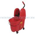 Reinigungswagen Rubbermaid WaveBrake mit Kombipresse Rot