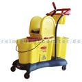 Reinigungswagen Rubbermaid WaveBrake Wischerwagen Gelb