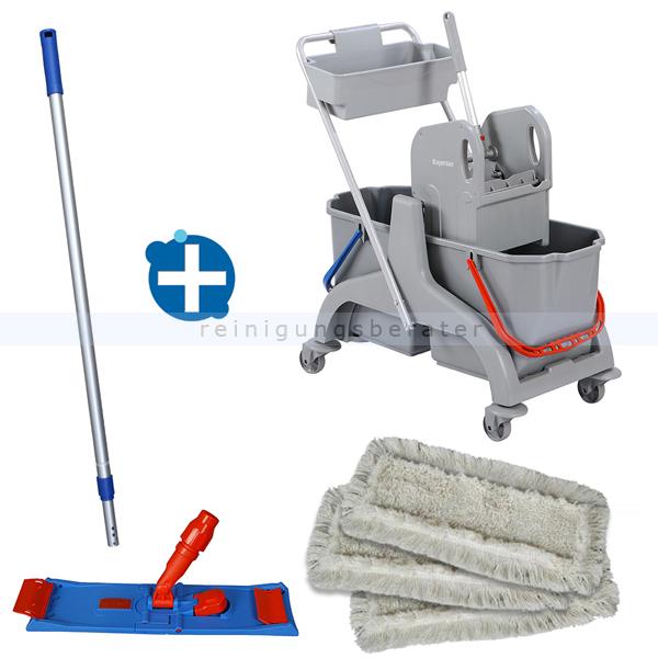 Reinigungswagen Set ReinigungsBerater Luck 50 cm mit Korb