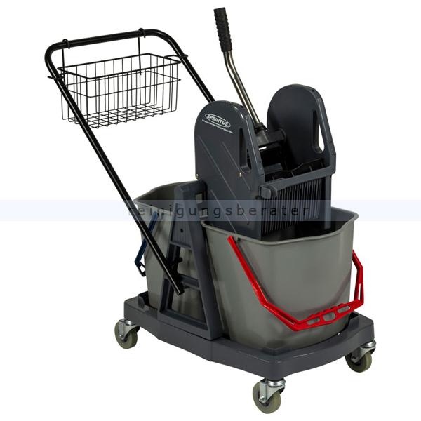 Reinigungswagen Sprintus 2x17 L Kunststoff mit Drahtkorb