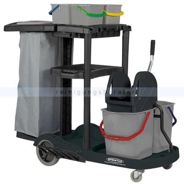 Reinigungswagen Sprintus Servicewagen 4 Eimer