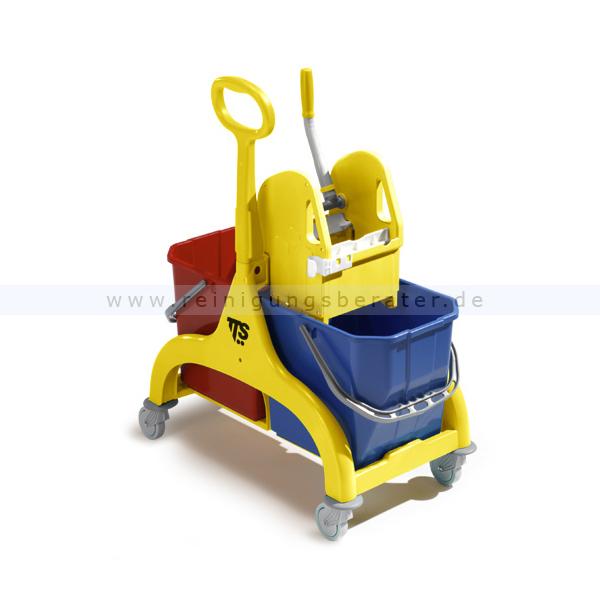 Reinigungswagen TTS Nick 2x15 L, gelb