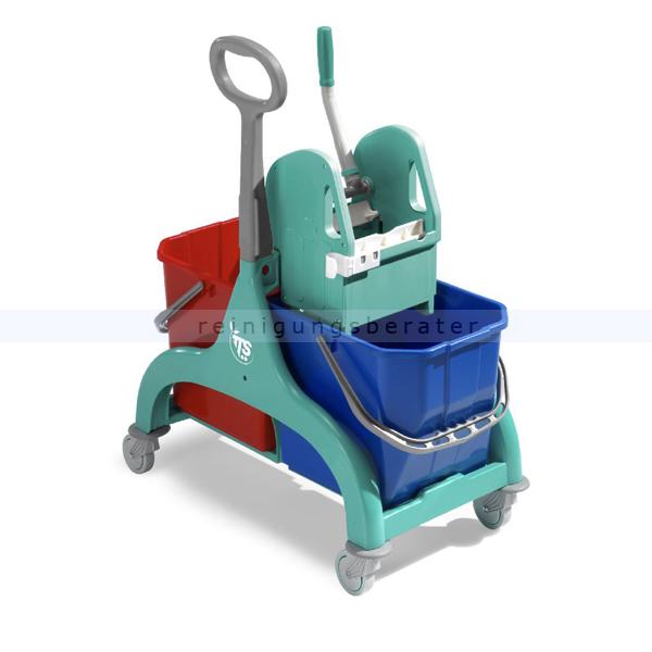 Reinigungswagen TTS Nick 2x15 L, grün