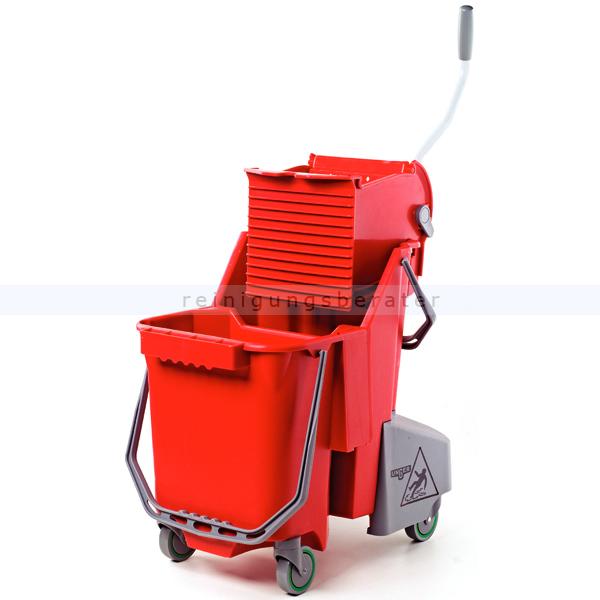 Unger COMBR SmartColor Combo 30 L Rot Doppelfahreimer Reinigungswagen Putzwagen