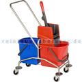 Reinigungswagen Vermop Garant 2 x 17 L mit Vertikalpresse