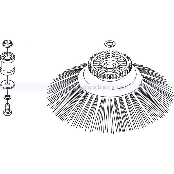 Kehrmaschinen Zubehör Kränzle 50195 Reparatursatz Reparatursatz Seitenbesen für die Kehrmaschine 2 Plus 2