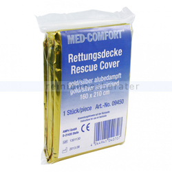Rettungsdecke Ampri Med Comfort gold-silber