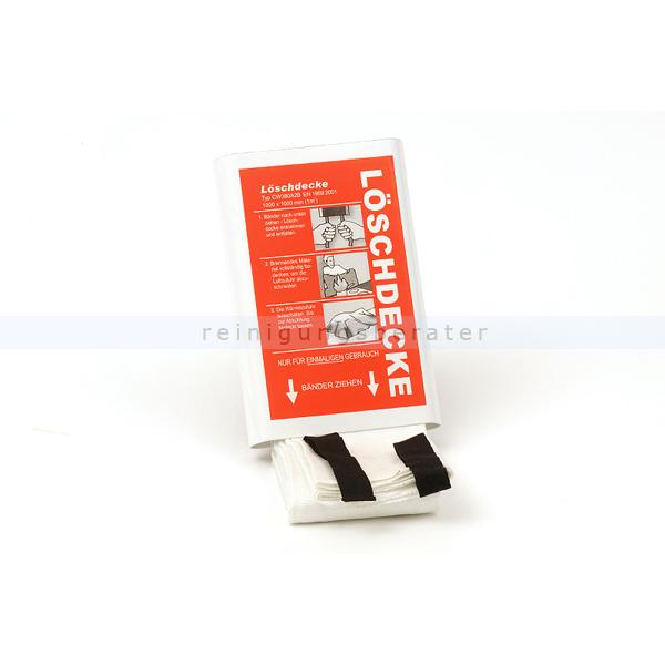 Rettungsdecke Leina Löschdecke mit Ausziehbändern DIN EN1869