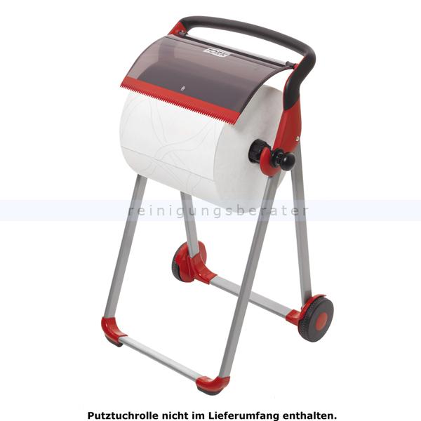 Rollenhalter Tork für Putztuchrolle Bodenständer rot/schwarz