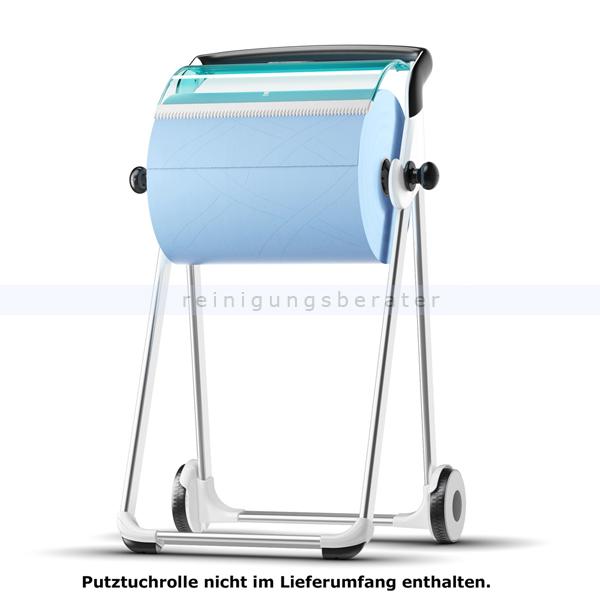 Rollenhalter Tork für Putztuchrolle Bodenständer weiß/türkis