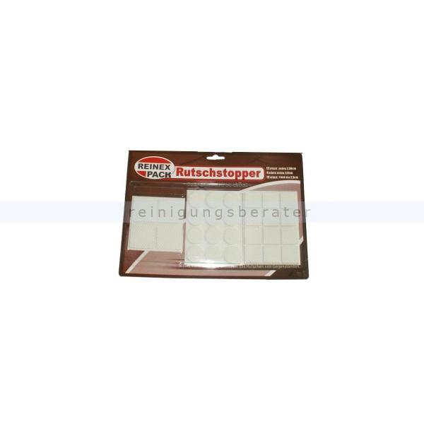 Rutschstopper Reinex Einzelverpackung 28-tlg. Set Gummi Weiß 28-tlg. Sortiment Rutschstopper Gummi Weiß 7805