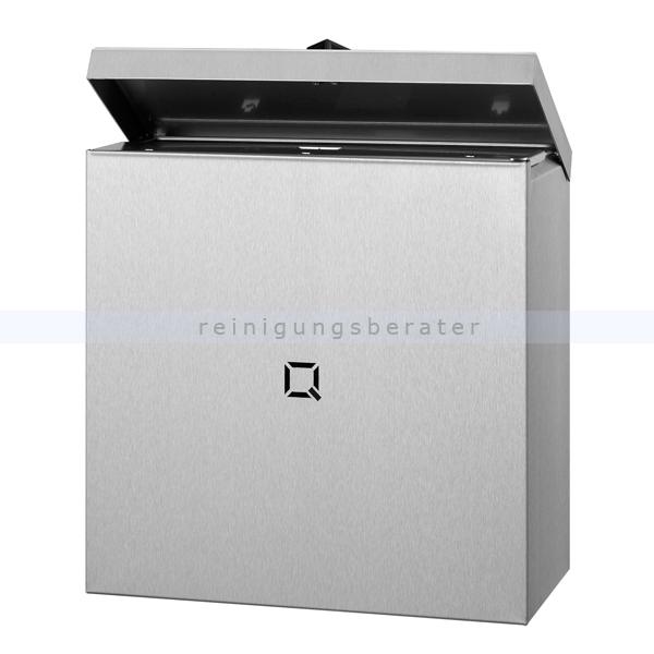 All Care Qbic-line Sanitärbehälter Edelstahl 9 L mit Schleusenklappe mit Innenring, mit Taste zum Öffnen des Ventils 6670