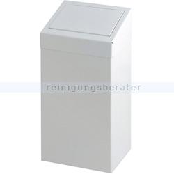 Sanitärbehälter mit Pushdeckel 55 l Stahl, weiß