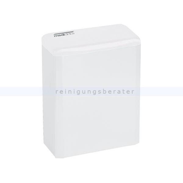 Sanitärbehälter Stahlblech weiß 6 L mit Deckel