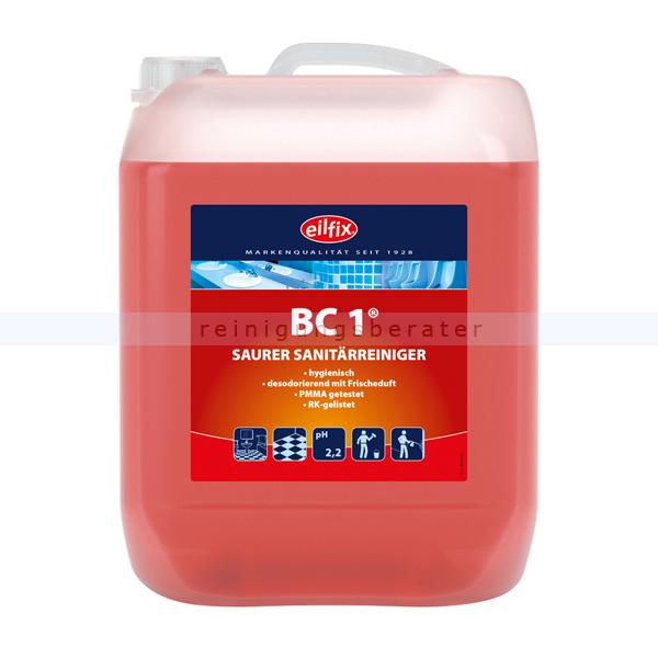 Becker Chemie Eilfix BC1 10 L Unterhaltsreiniger mit besonders frischer Note und Keimstopp 100153-010-000