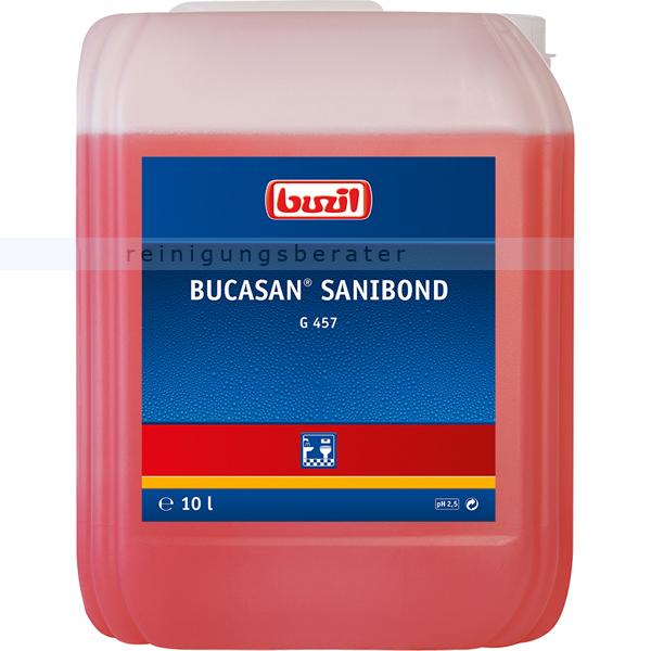 Buzil Bucasan Sanibond 10 L, Sanireiniger kennzeichnungsfrei viskoser Sanitärunterhaltsreiniger auf Zitronensäurebasis G457-0010R1