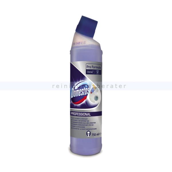 Diversey DOMESTOS Professional Entkalker Bad / WC 750 ml Kalklöser für stark verkalkte Flächen im Sanitärbereich 7517937