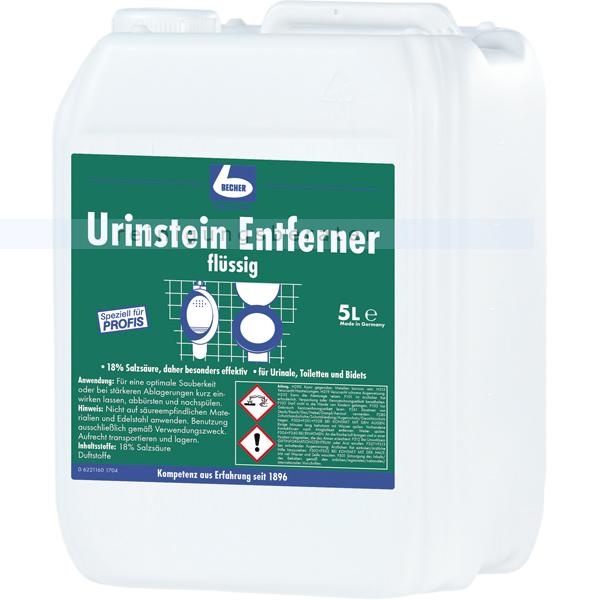 Dr. Becher 1535000 Urinstein Entferner 5 L kraftvoll gegen Urinstein, Wasserstein, Kalkstein etc.