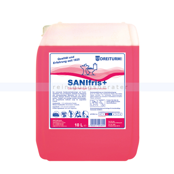 Sanitärreiniger Dreiturm Sanifris PLUS 10 L