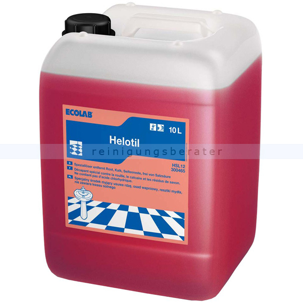 Ecolab Helotil Sanitär-Grundreiniger 10 L Sanitärreiniger Sanitär-Grundreiniger auf Phosphorsäurebasis 3004650
