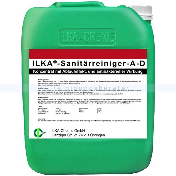 ILKA Chemie Sanitärreiniger ILKA A D 30 L antibakterielle Wirkung, mit Ablaufeffekt 0725030