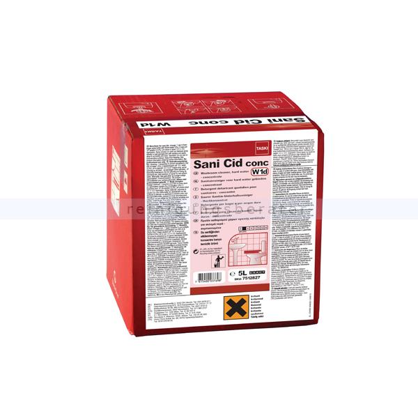 Sanitärreiniger TASKI Sani Cid conc 5 L mit RK-Listung, auf Basis von Zitronensäure, Hochkonzentrat 7512827