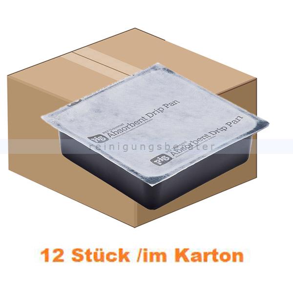 New Pig Saugwanne PIG® Pan-Saugwannen 12 Wannen je Karton Abmessung 27 cm x 27 cm x 8 cm, Absorbiert 33,6 L je Karton 2410PP-01