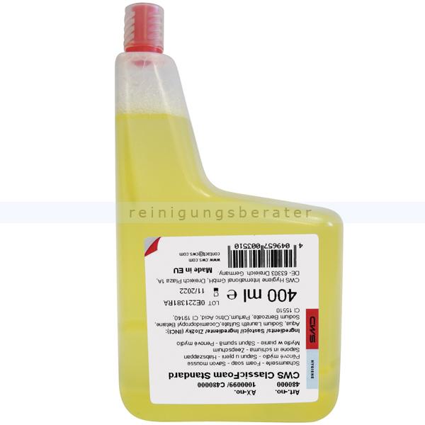 Schaumseife CWS Konzentrat standard, gelb 400 ml Seifenschaumkonzentrat für CWS 400 Foam Seifenspender C480000
