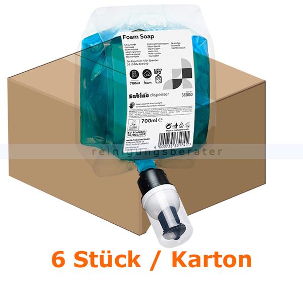 Schaumseife Wepa Satino foam soap Seife blau 6 x 700 ml für Wepa Seifenspender 32331100 und 32331060 332650
