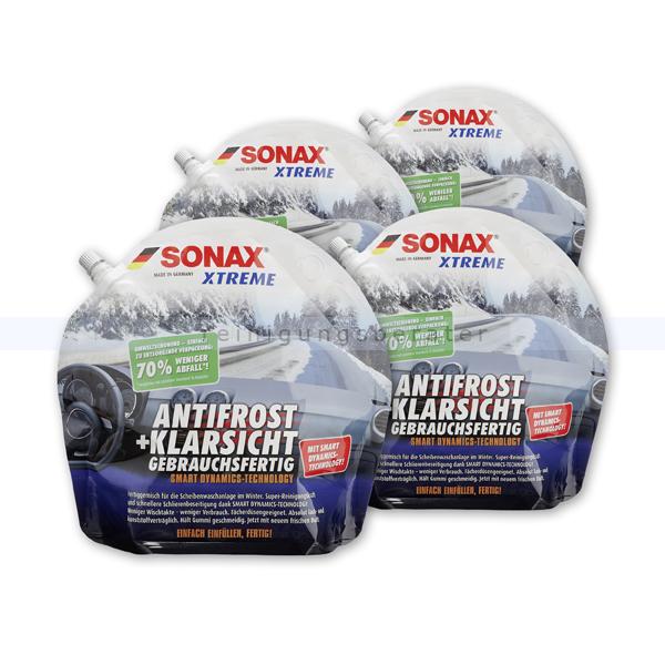 Scheibenfrostschutz SONAX Antifrost & Klarsicht 4 x 3 Liter