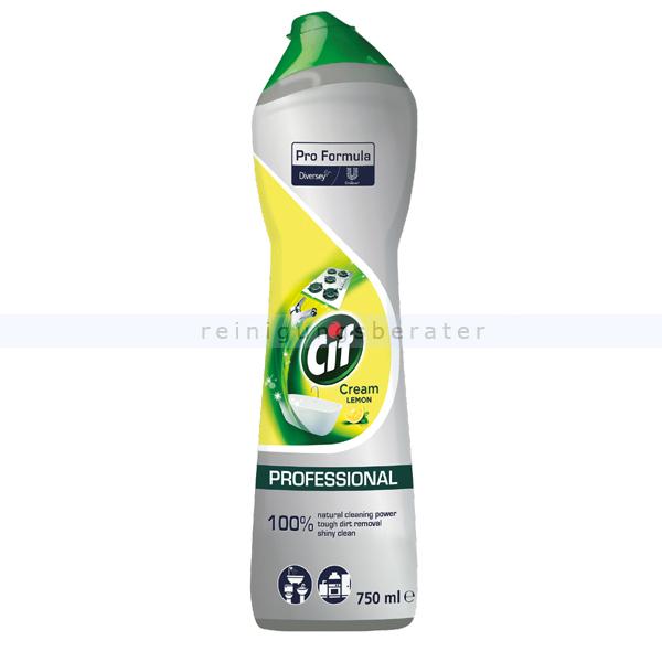 Diversey CIF Professional Cream Original 750 ml Scheuermilch mit natürlichen Mikrokristallen für strahlenden Glanz 101104134