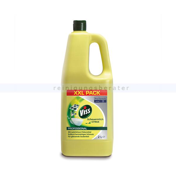 Scheuermilch Diversey VISS Citrus 2 L Ideal für Herde, Arbeitsflächen, Spülen, Badewannen, 7510838