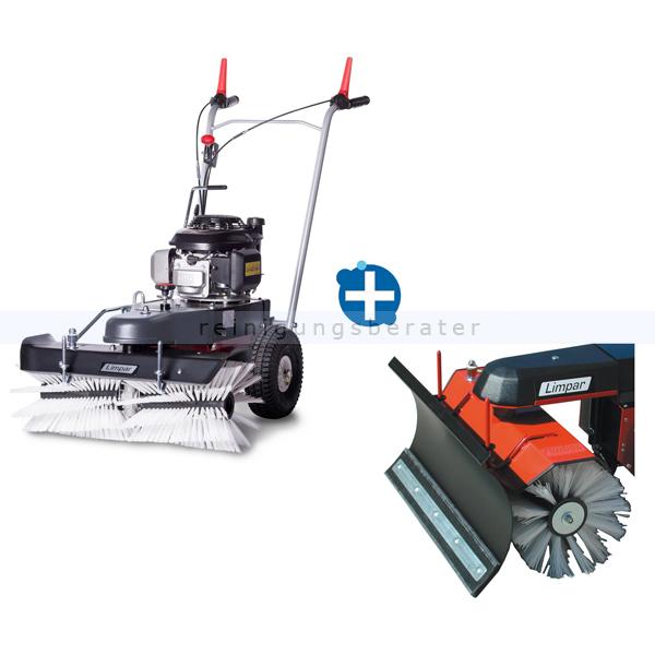 Limpar 72 Kehrmaschine mit Winterbürsten und Schneeschild hochwertige Kehrmaschine mit Honda GVC 160 OHC Motor FKV-G3P+FSS-C68