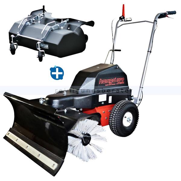 haaga 870 accu kehrmaschine mit schneeschild kehrbeh lter. Black Bedroom Furniture Sets. Home Design Ideas