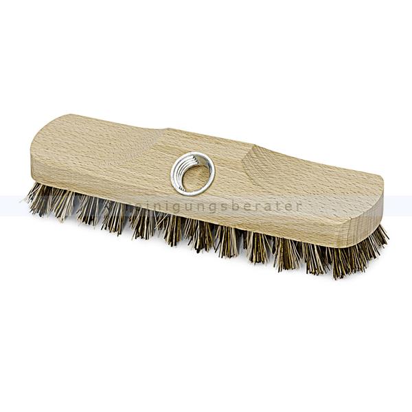 Schrubber Holz Nölle hart 22 cm mit Gewinde, besonders harte Borstenmischung, ohne Bart 00321002