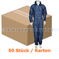 Schutzanzug Abena Schutz-Einweg-Overall blau S/M Karton