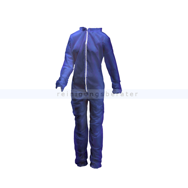 Ampri Med Comfort Disposable PP-Jumpsuit with Collar Blue Size XXL Protective Overalls